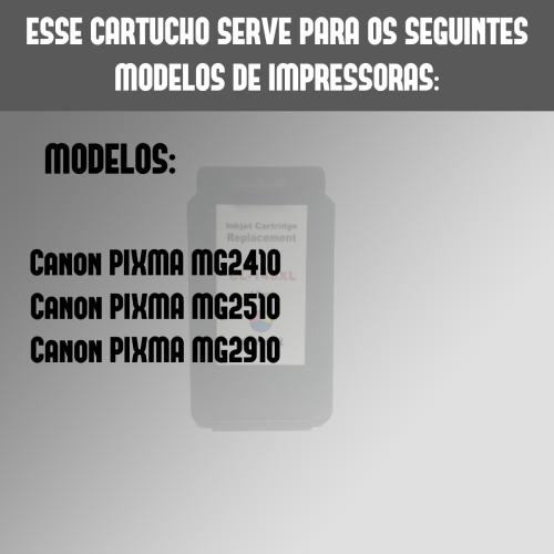 Cartucho Compativel Canon 146 Cl146 Color Mg2910 Mg2510