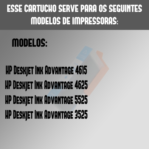 Cartucho Compatível HP 670XL 670 Ciano Deskjet 4615 5525