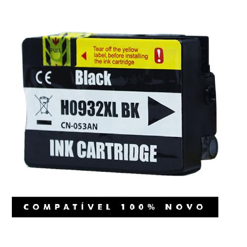 Cartucho Compatível Com Hp 932xl 932 Preto Para 7610 7612