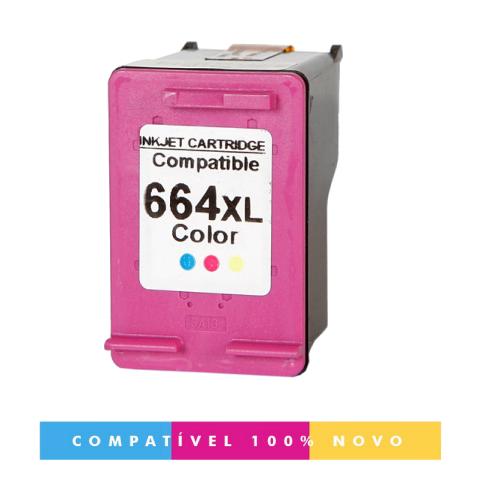 Cartucho Compatível HP 664XL 664 colorido 3636 2136 1115