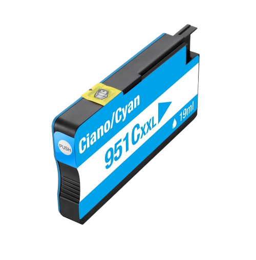 Cartucho Compatível Hp 951xl 951 Ciano 8100 8600 8620