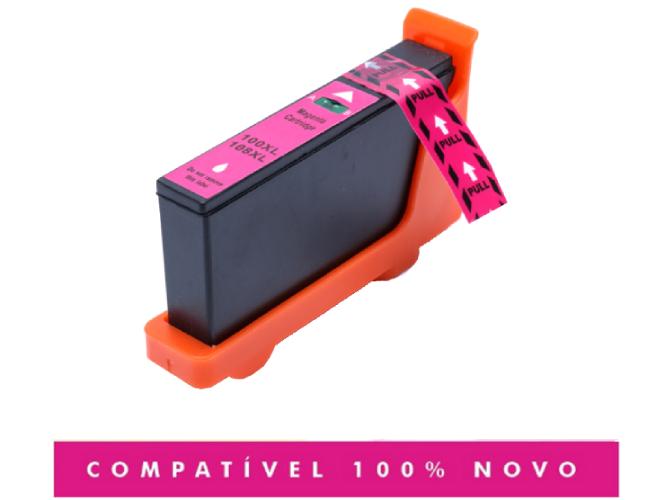 Cartucho Compatível Lexmark 100XL 100 Magenta Pro805 Pro905
