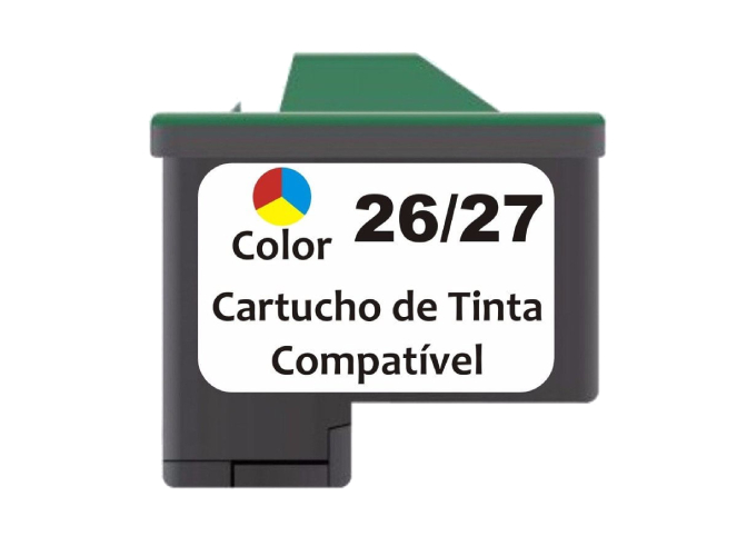 Cartucho Compatível Lexmark  26 27 0N0026 Colorido
