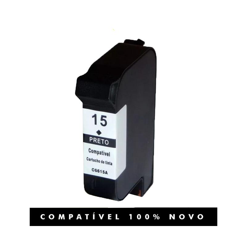 Cartucho de tinta compatível com HP 45 15xl Preto