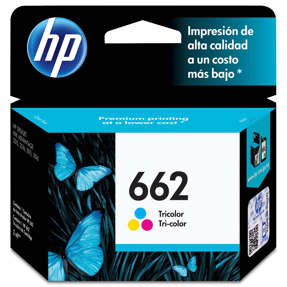 Cartucho de Tinta HP 662 Colorido Original