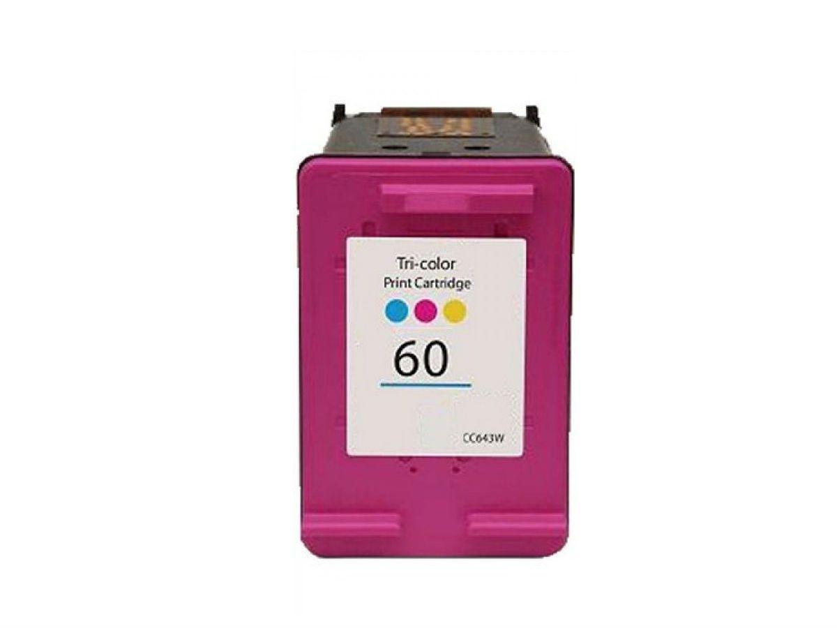 Cartucho HP 60XL Colorido Compatível Para Photosmart C4795 C4680 D410