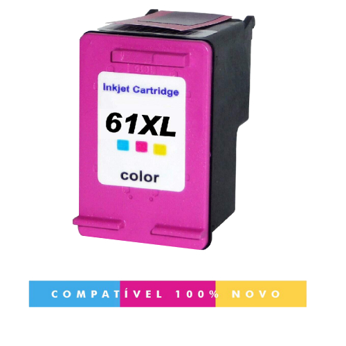 Cartucho Hp 61XL 61 Color Compatível