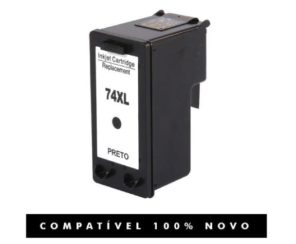 Cartucho HP 74XL 74 Preto Compatível C4280 C4480
