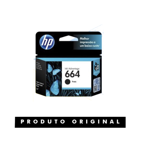 Cartucho Original HP 664 Preto