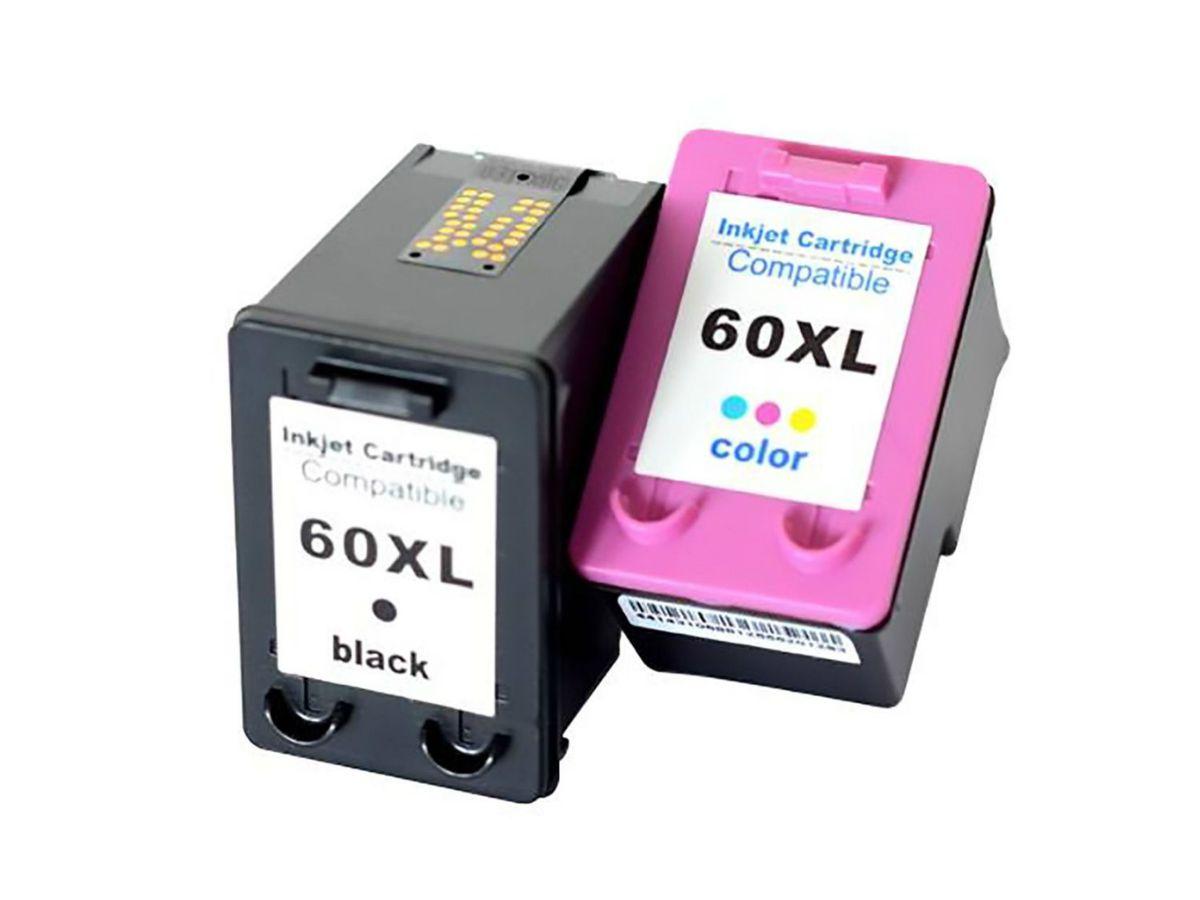 Kit 2 Cartuchos Hp 60xl Black/Color C4680 C4780