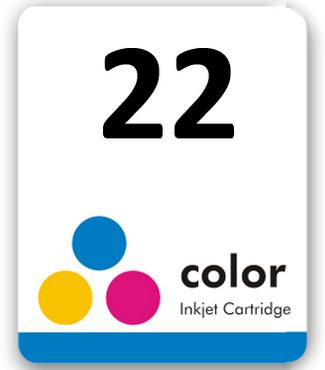 Etiqueta para cartucho HP 22 Pacote c/ 50Un