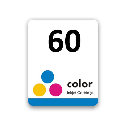 Etiqueta para cartucho HP 60 Colorido - PCTE C/ 50UN
