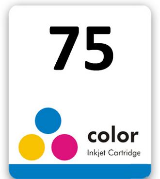 Etiqueta para cartucho HP 75 - PCTE C/ 50UN