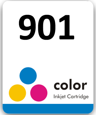 Etiqueta para cartucho HP 901 Colorido - PCTE C/ 50UN