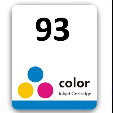 Etiqueta para cartucho HP 93 - PCTE C/ 50UN