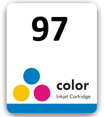 Etiqueta para cartucho HP 97 Colorido - PCTE C/ 50UN