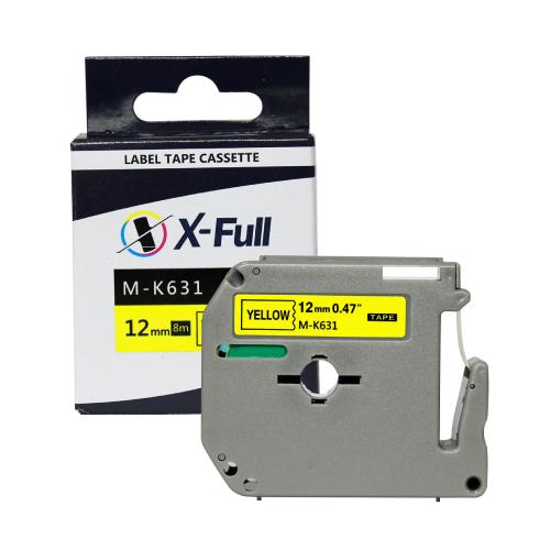 Fita Rotuladora para Brother M-K631 Black/Yellow