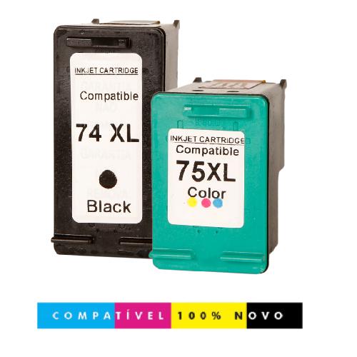 Kit 2 Cartuchos Compatíveis 74XL 75XL C4480 C4280 74 75