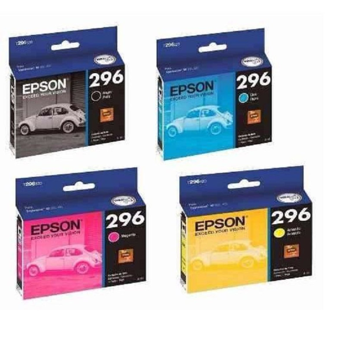 Kit 4 cartuchos originais epson para 296 xp 231 xp 431