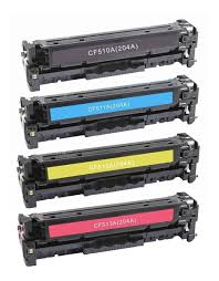 Kit 4 Toner Compativel Para Color Laserjet Pro M180nw cf 510/11/12/13