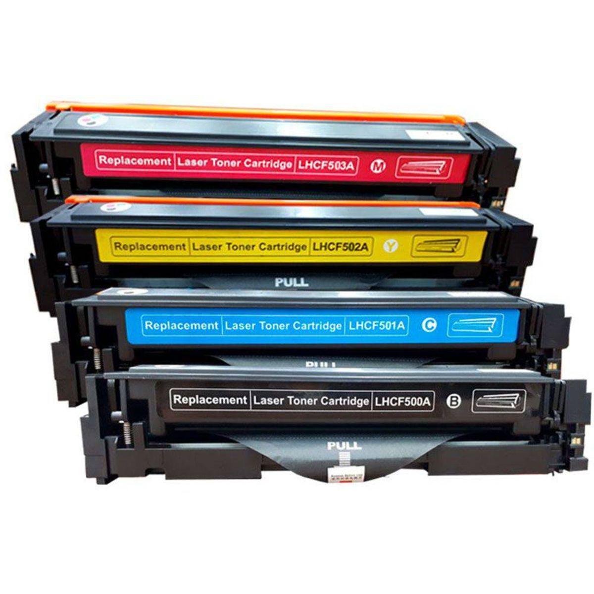 Kit 4 Toners 202a Cf500a Cf501a Cf502a Cf503a