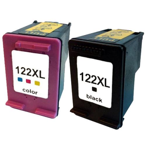 Kit Cartucho HP 122xl Black/Color+ Kit Recarga Cartucho HP