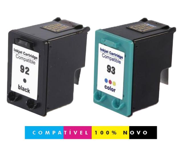 Kit Cartuchos 92 93 Deskjet D4100 Officejet 6210