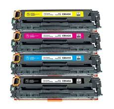 Kit Toner Compatível HP Cb540a 540 541 542  543 Cp1215
