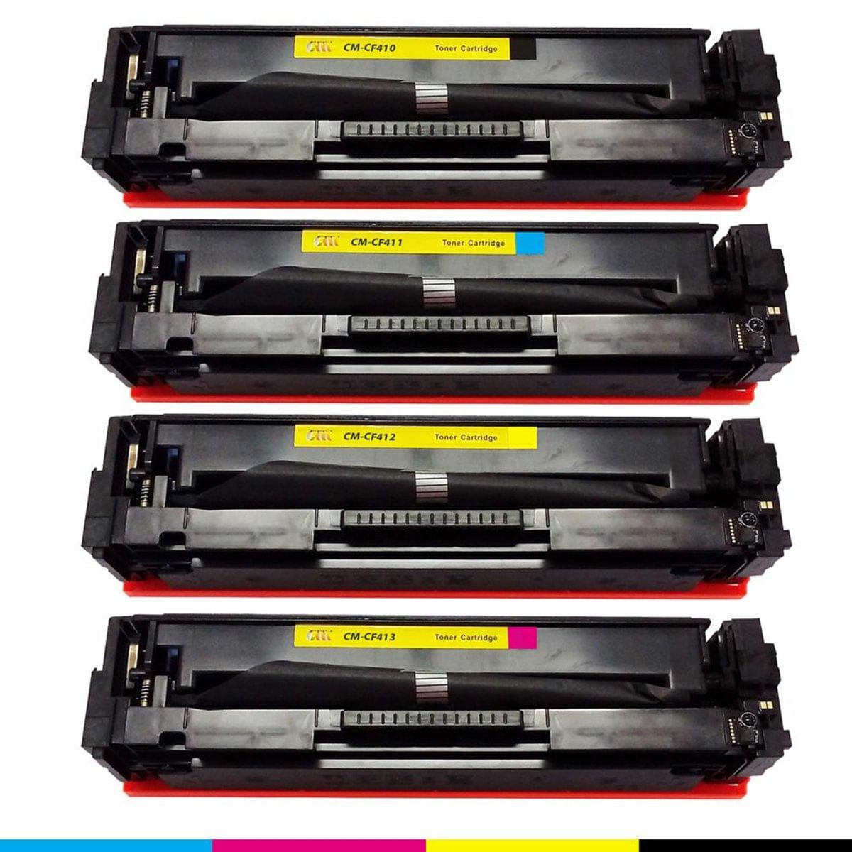 Kit Toner compatível HP CF410 CF411 CF412 CF413 410a Color M452 M477