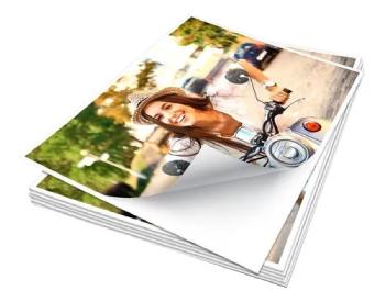 Papel fotográfico Auto Adesivo 135g A3 20 Folhas