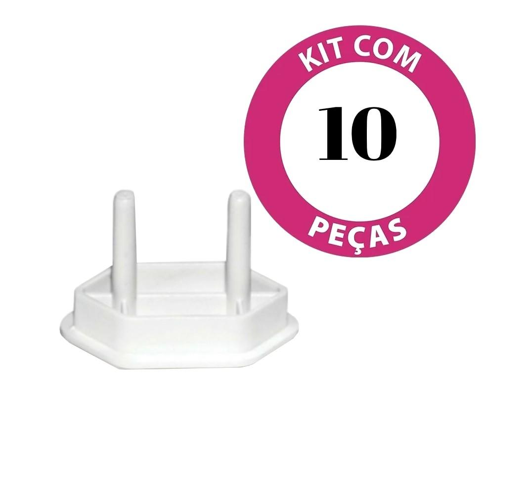 Protetor de tomada para criança 10 unidades
