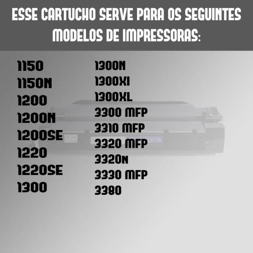 Toner 2613a 2613 13 7115 Compatível HP 1300 xl 1300n 1300