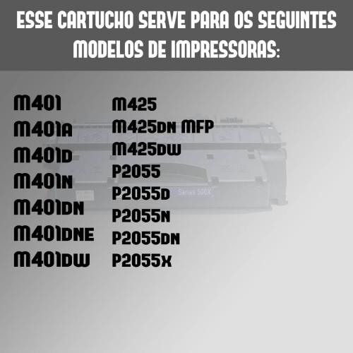 Toner Compatível 280x 505x 05x 80x 280 505 P2055 Pro400