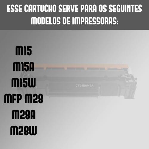 Toner Compatível HP Cf248a 48a 248 M15 M15a M15W M28a M28W