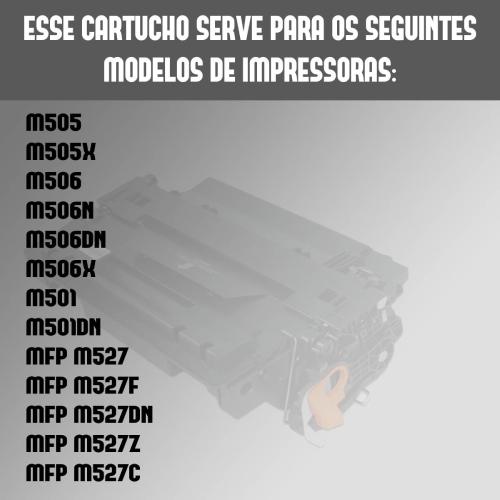 Toner Compatível HP Cf287x 287 287x M501 M506 M506Dn M527Dn