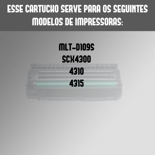 Toner Compatível Samsung MltD109S 109S D109 Scx4300
