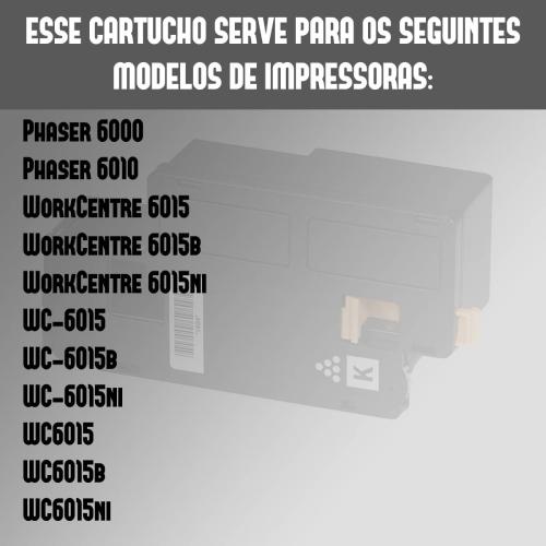 Toner Compatível Xerox Phaser 6000 6010 6015 106R01634 Preto