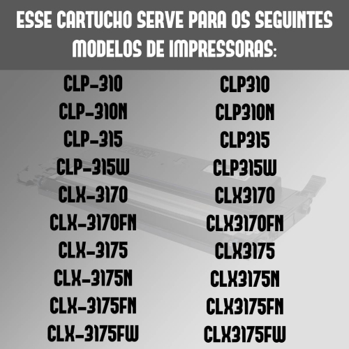 Toner Compatível Samsung Clt409S 409 Preto Clp310 Clp315