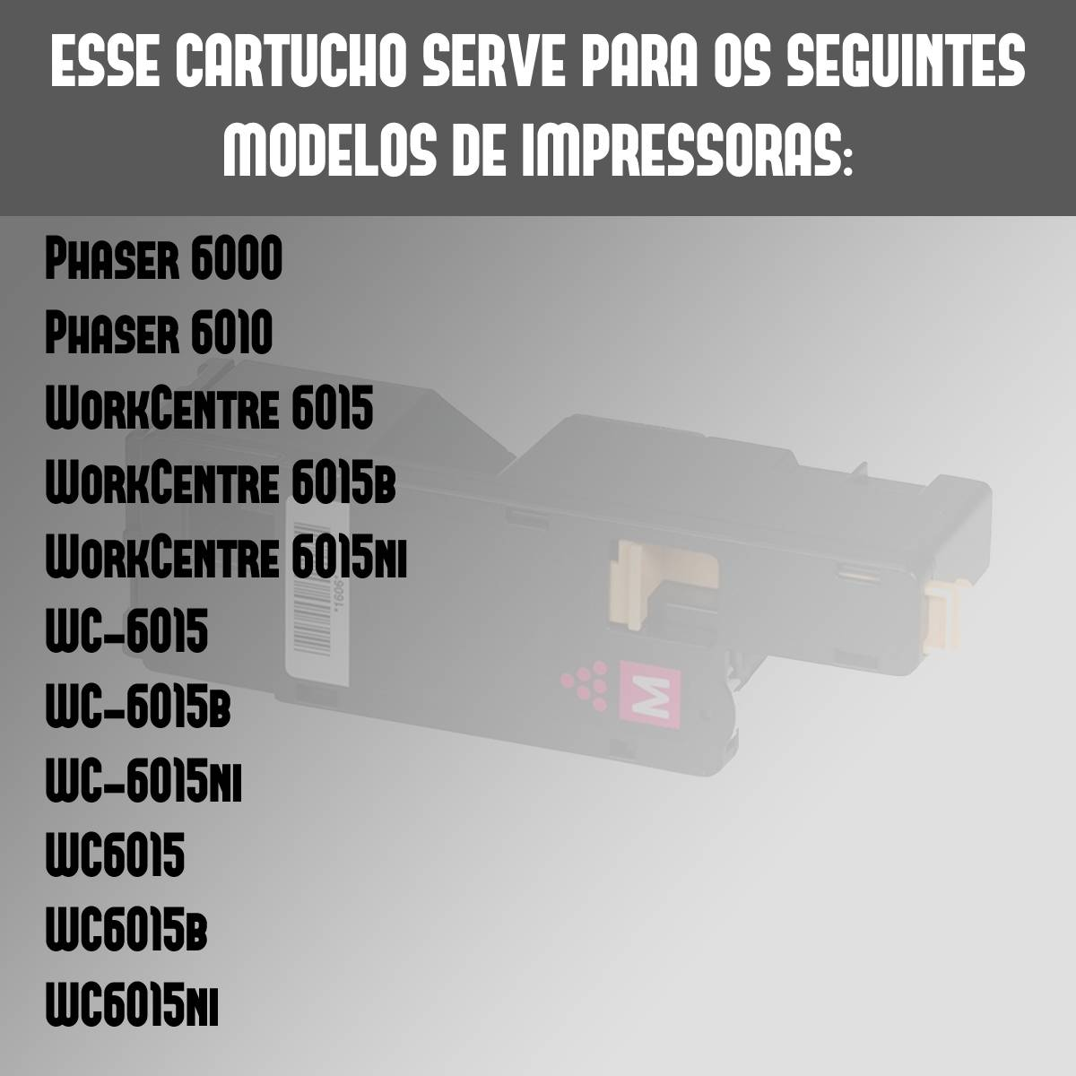 Toner Compatível Xerox Phaser 6000 6010 6015 Magenta