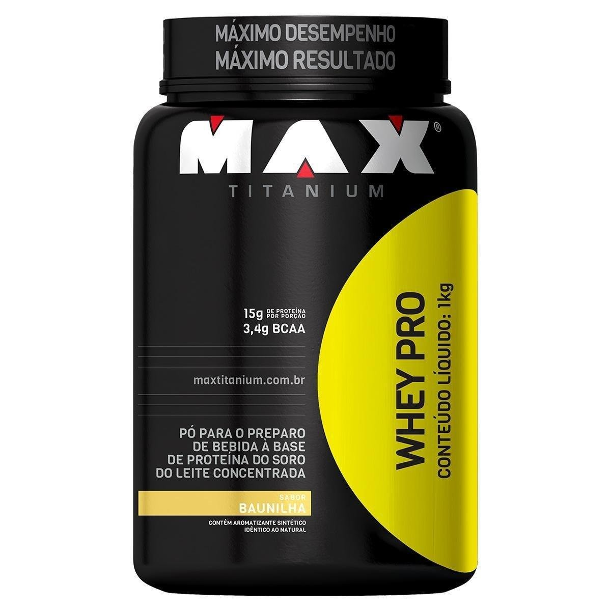 Whey Protein 1kg Sabor Baunilha- Max Titanium