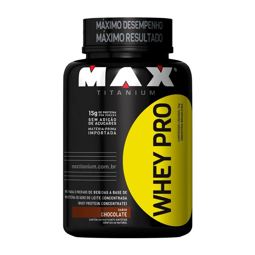 Whey Protein 1kg Sabor Chocolate- Max Titanium