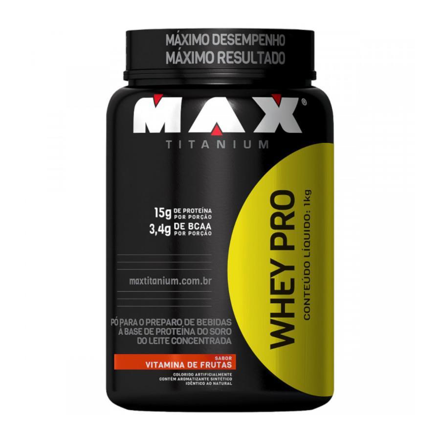 Whey Protein 1kg Sabor Vitamna de Frutas- Max Titanium