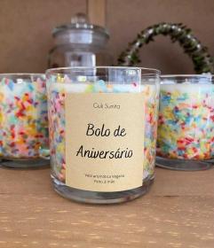 Bolo de aniversário - Vela perfumada vegana - 175g