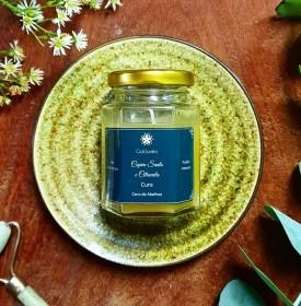 Capim santo e citronela - Vela de aromaterapia - 80g