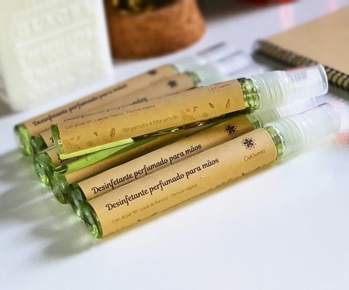 Bergamota & Manjericão - Desinfetante perfumado para as mãos