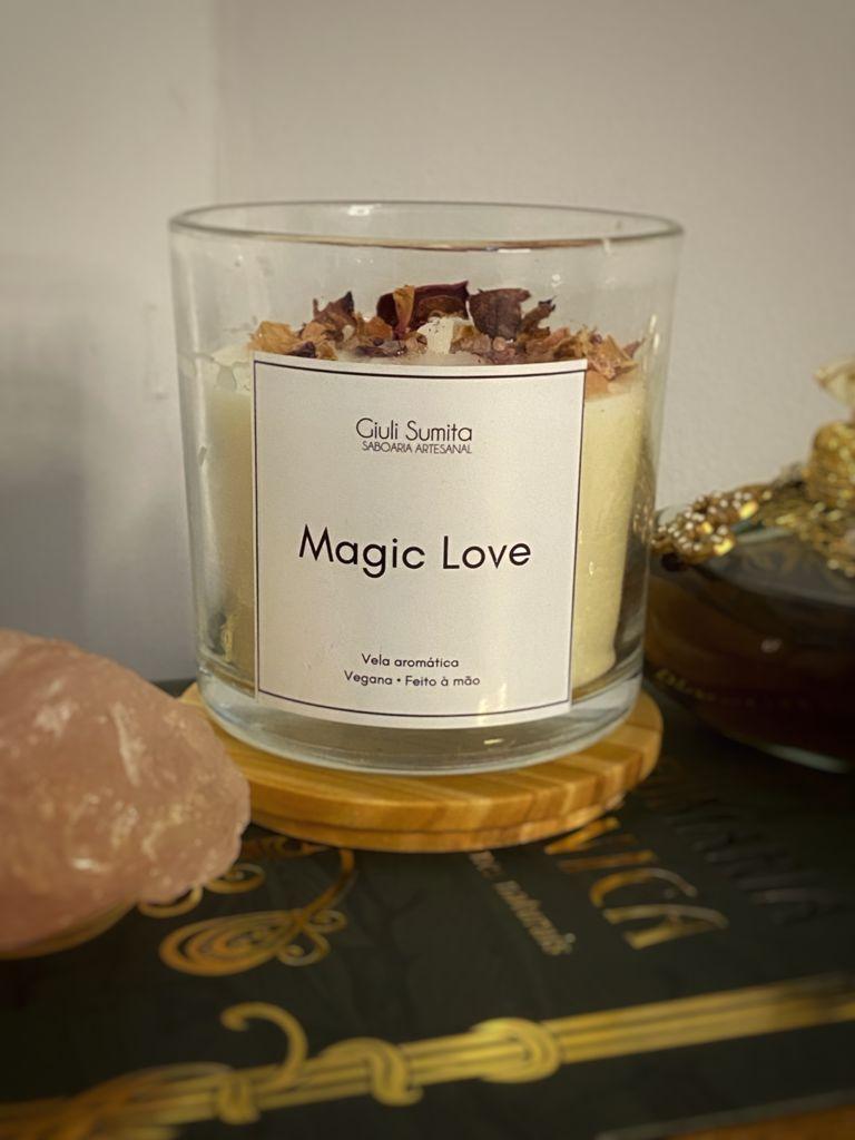 Magic Love Vela perfumada vegana - 170g