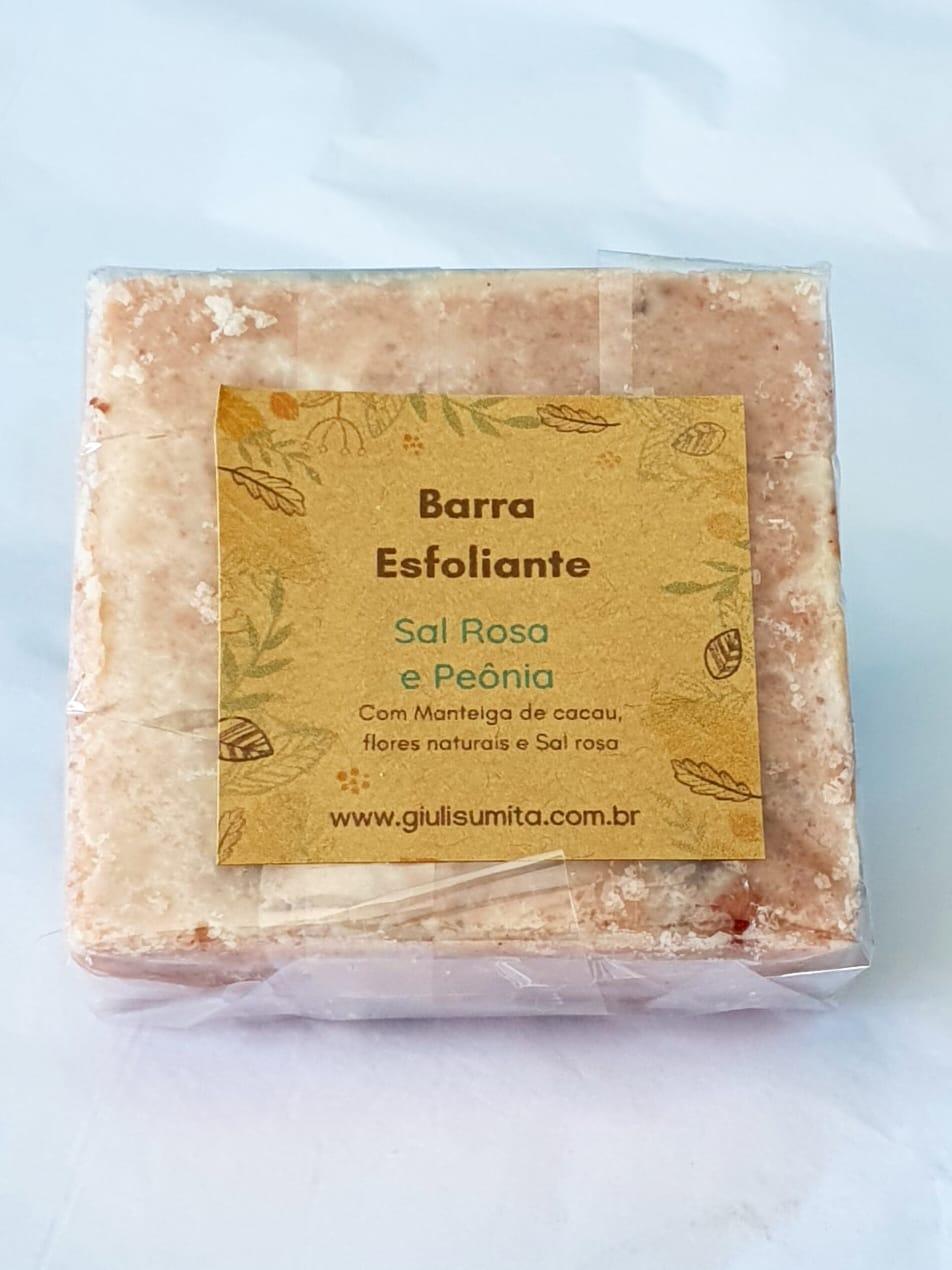Sal Rosa e Peônia - Barra esfoliante