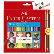 Ecolápis de cor Caras & Cores com 24 + 3 cores - Faber-Castell