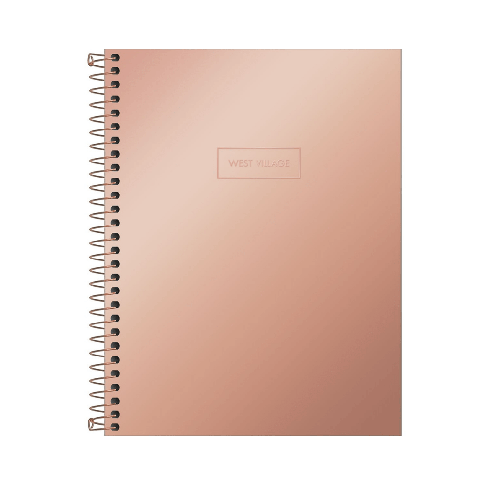 Caderno Colegial West Village Metalizado 10 matérias - Tilibra