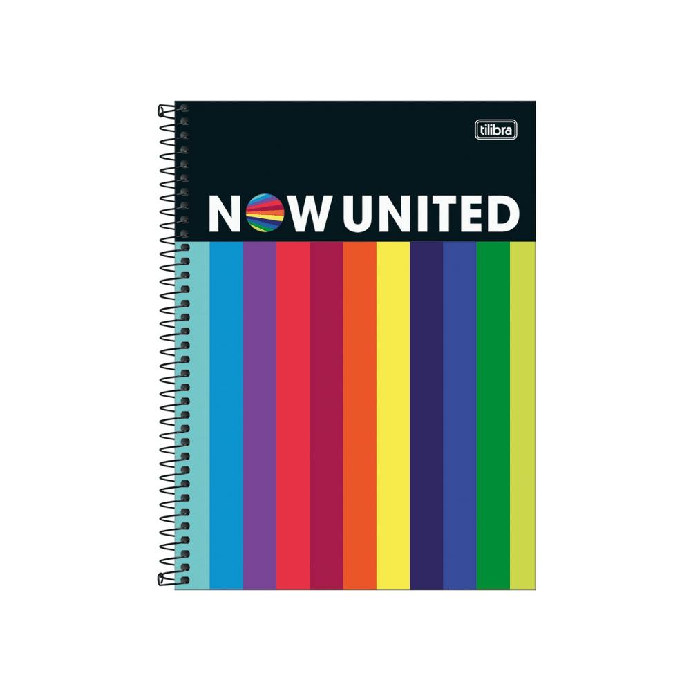 Caderno Universitário 10 matérias Now United - Tilibra